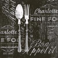 Servietten 33x33 cm - Bon appetit