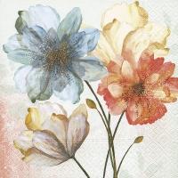 Servietten 33x33 cm - Porträt von Blumen