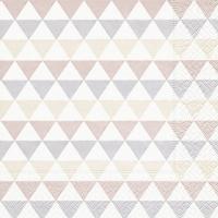 Servietten 33x33 cm - Triangle pattern