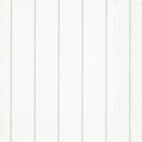 Servietten 33x33 cm - Haus weiß/ beige