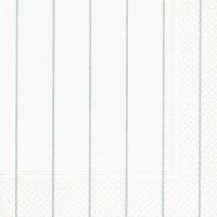 Servietten 33x33 cm - Home white/aqua