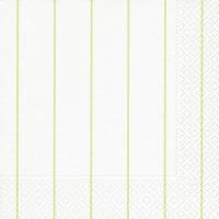 Servietten 33x33 cm - Home white/green