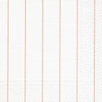 Servietten 33x33 cm - Home white/rosé