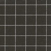 Servietten 33x33 cm - Home square black