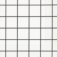 Servietten 33x33 cm - Home square white/black
