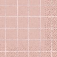 Servietten 33x33 cm - Home square rosé