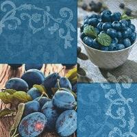 Lunch Servietten Blueberries & plums
