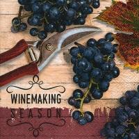 Lunch Servietten Winemaking season