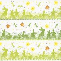 Servietten 33x33 cm - Bunny meadow