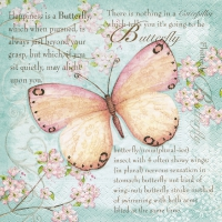 Servietten 33x33 cm - Schmetterlingsdichtung