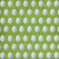 Lunch Servietten White eggs green
