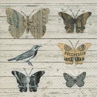 Servietten 33x33 cm - Papier-Schmetterlinge