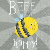 Servietten 33x33 cm - Beee glücklich