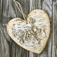 Lunch Servietten Wooden heart