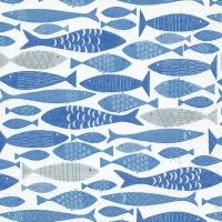 Servietten 33x33 cm - Shoal of fish