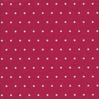 Servietten 33x33 cm - Dots raspberry