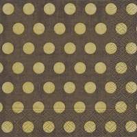 Lunch Servietten Classic dots brown