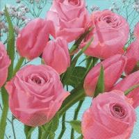 Lunch Servietten Tulips meet roses