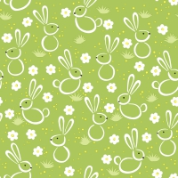 Servietten 33x33 cm - Easter meadow