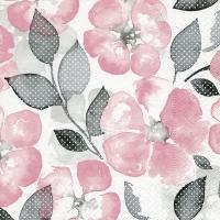 Servietten 33x33 cm - Sanfte Blumen