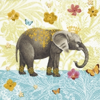 Servietten 33x33 cm - Elephant garden