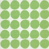 Servietten 33x33 cm - Große Punkte grün