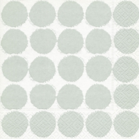 Servietten 33x33 cm - Big dots grey
