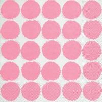 Servietten 33x33 cm - Große Punkte rosa