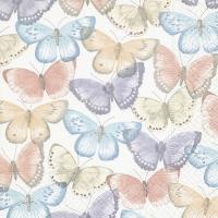 Servietten 33x33 cm - Tender butterflies