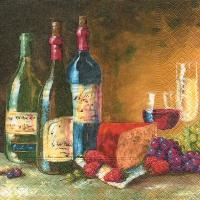 Servietten 33x33 cm - Wine store