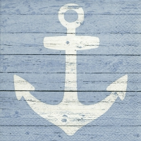 Servietten 33x33 cm - Anchor sign blue