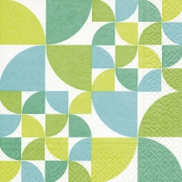 Servietten 33x33 cm - Bauhaus pattern