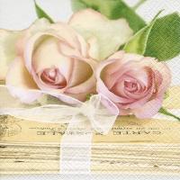 Servietten 33x33 cm - Love letters