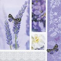 Servietten 33x33 cm - Traum vom Lavendel