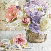 Lunch Servietten Romantic bouquet