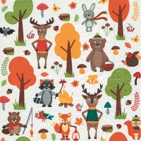 Lunch Servietten Woodland animals
