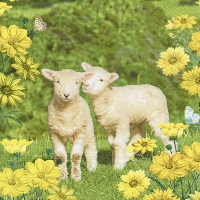 Servietten 33x33 cm - Easter twins