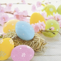 Servietten 33x33 cm - Pastel eggs