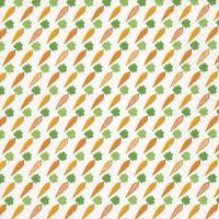 Servietten 33x33 cm - Carrots pattern