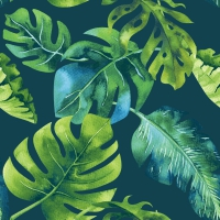 Servietten 33x33 cm - Dschungelblätter