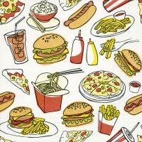 Servietten 33x33 cm - Fast food
