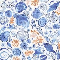 Servietten 33x33 cm - Sea life