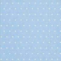 Servietten 33x33 cm - Dots light blue