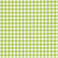 Servietten 33x33 cm - Neu Vichy grün