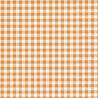 Servietten 33x33 cm - New Vichy orange