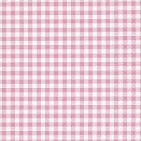 Servietten 33x33 cm - Neu Vichy rosé rosé