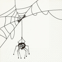 Servietten 33x33 cm - Spider net
