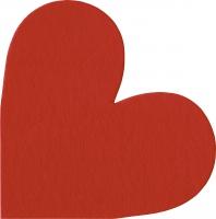 Gestanzte Servietten - Herz Rot