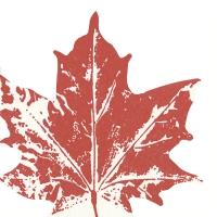 Gestanzte Servietten - Maple leaf red
