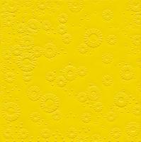 Servietten 33x33 cm - Momente uni gelb geprägt